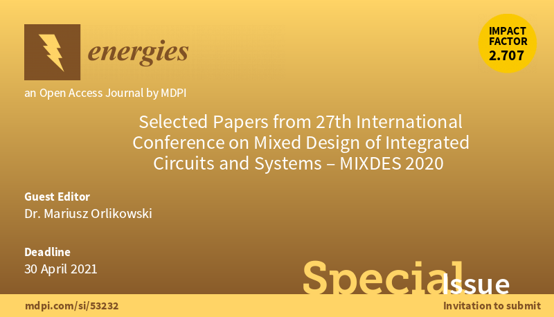 Selected Papers from 27th International Conference on Mixed Design of Integrated Circuits and Systems - MIXDES 2020